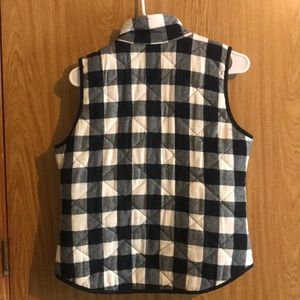 Jackets & Coats - black and white checkered vest